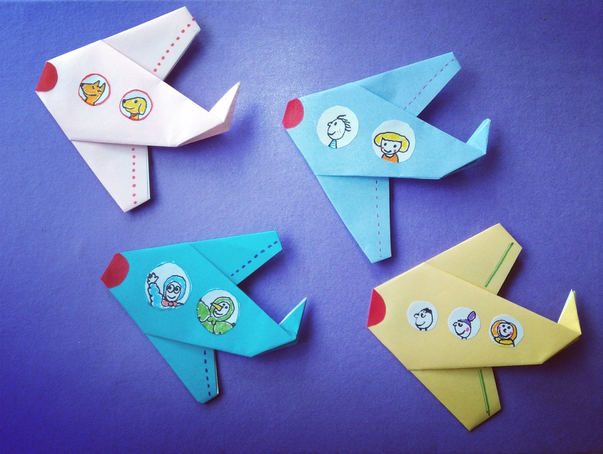 Air planes made of Origami paper