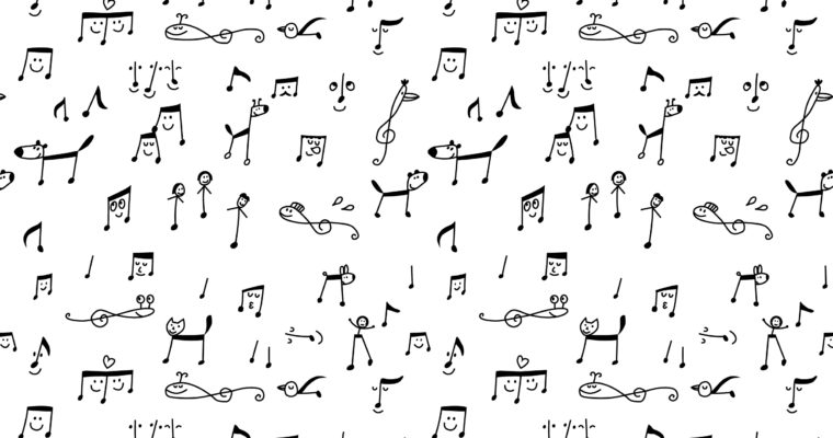 Pattern -music notes-