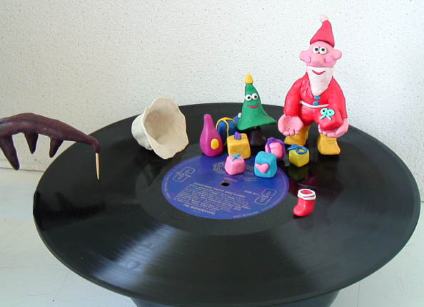Santa runs on the record!